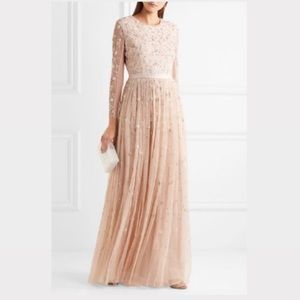 Needle & Thread Celestial embellished tulle gown